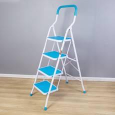 宝优妮 梯子家用折叠人字梯家庭多功能踏板防滑梯四步加厚加粗梯子