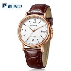 羅西尼  正品經典 簡約潮流時尚石英手表 皮帶男女可選腕表  情侶款式腕表