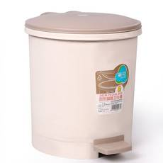 茶花 垃圾桶圆型脚踏卫生桶6L清洁收纳圆型废纸篓客厅卫生筒 1502