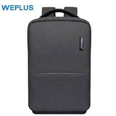 WEPLUS 极简都市休闲商务背包多功能双肩包男电脑包WE8801